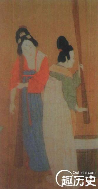 隋唐五代服饰 五代时期的妇女服饰图片